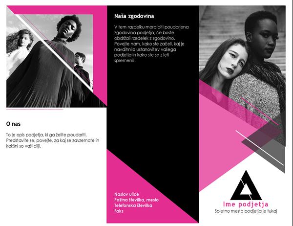 Brošura z modnim motivom