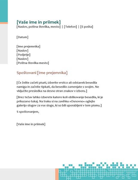 Minimalistična glava pisma tehnološkega videza