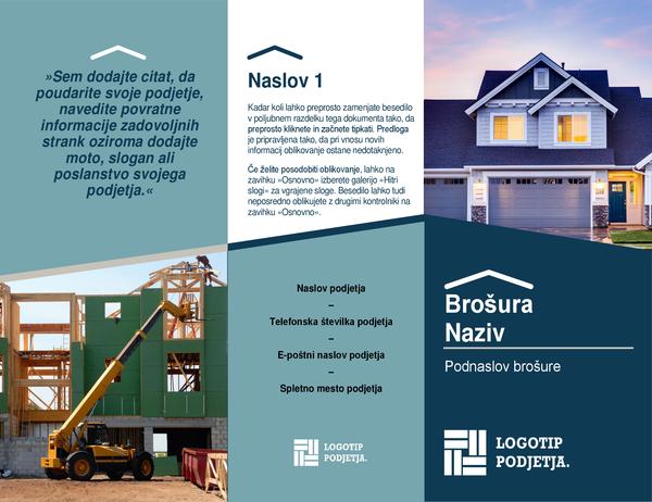 Brošura za gradbeništvo
