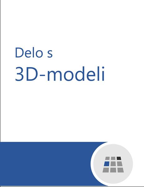 Delo s 3D-modeli v Wordu