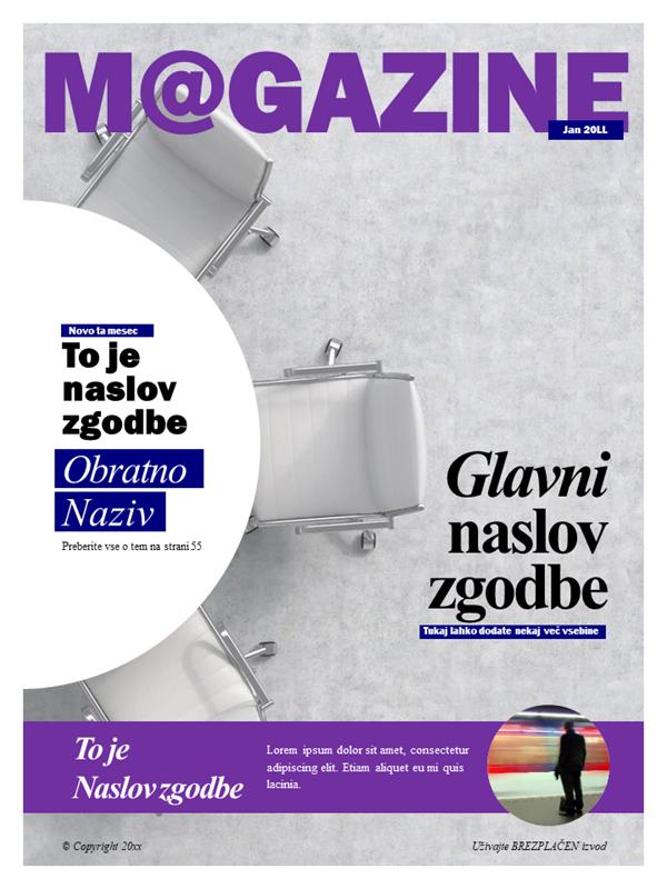 Naslovnice za revije o družabnih medijih