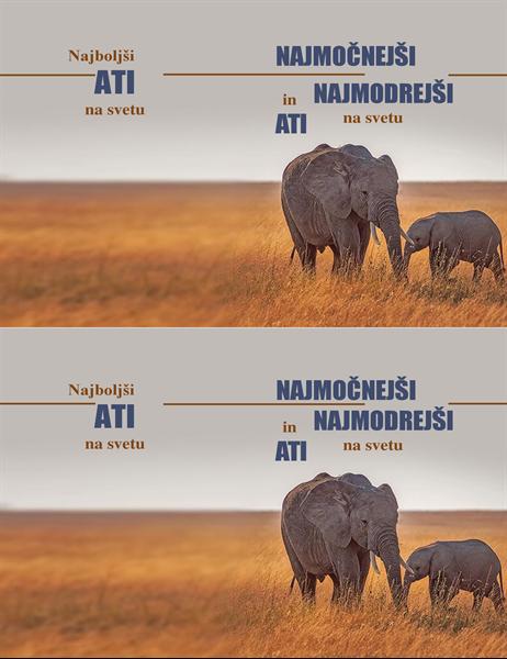 Čestitka za očetovski dan – pametni slon