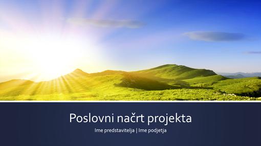 Predstavitev poslovnega načrta za projekta (širokozaslonsko)