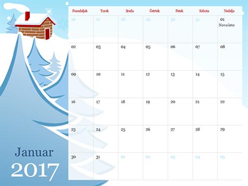 Ilustriran koledar letnih časov za leto 2015 (pon-ned)
