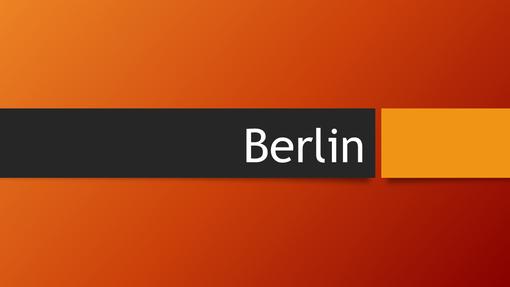 Berlin – oranžno