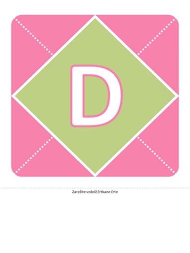 Transparent »Dobrodošla, deklica« (roza, vijolična, zelena)