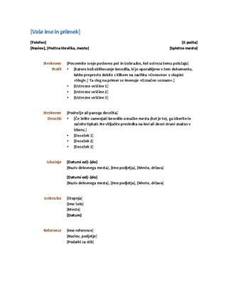 Življenjepis (uporabna zasnova)