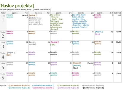 Časovnica za načrtovanje projektov
