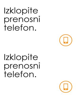 Opomnik za izklop mobilnih telefonov