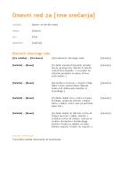 Dnevni red poslovnega sestanka (oranžni načrt)