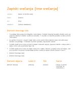 Minute srečanja (oranžni načrt)