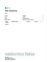 Naslovnica faksa (pike)