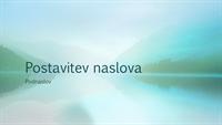 Predstavitev z motivom spokojne narave (widescreen)