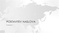 Serija z motivom zemljevidov sveta, predstavitev z motivom azijske celine (širokozaslonska)