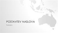 Serija z motivom zemljevidov sveta, predstavitev z motivom avstralske celine (širokozaslonska)