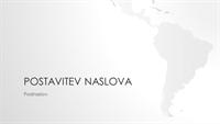 Serija z motivom zemljevidov sveta, predstavitev z motivom južnoameriške celine (širokozaslonska)