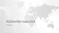 Serija z motivom zemljevidov sveta, predstavitev z motivom sveta (širokozaslonska)