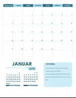 Šolski koledar z obliko »pon–sob« (poljubno leto)
