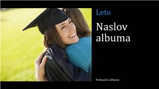 Maturantski fotoalbum, črn (širokozaslonski)