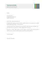 Poslovno pismo (načrt Sales Stripes)