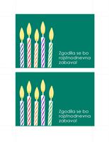 Kartica s povabilom na rojstni dan