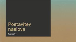 Predstavitev z modro-kožno rjavim prelivom (širok zaslon)