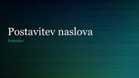 Zelenobrušena kovinska predstavitev (širok zaslon)