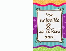 Voščilnica za rojstni dan – zvezde in črte (otroci)