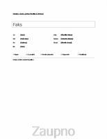 Preprosta naslovna stran faksa