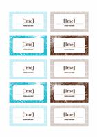 Kartice za označevanje mesta za novoletno zabavo (za Avery 5371)