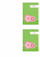 Kartica za zahvalo (cvetna oblika)