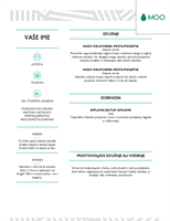 Ustvarjalen življenjepis, zasnovan v podjetju MOO