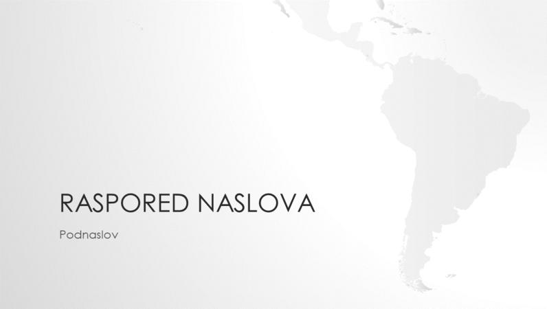 """Serija """"Mape sveta"""", prezentacija južnoameričkog kontinenta (široki ekran)"""