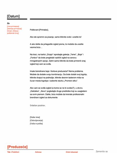 Memorandum (crveni i crni dizajn)
