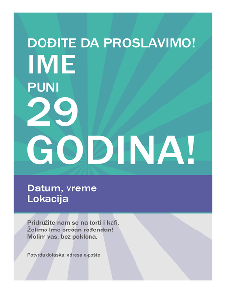 Rođendanski poster