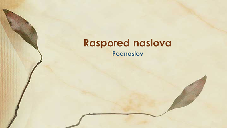 """Slajdovi sa dizajnom """"Presovano lišće"""""""