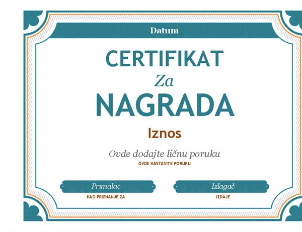Nagrada poklon čestitke