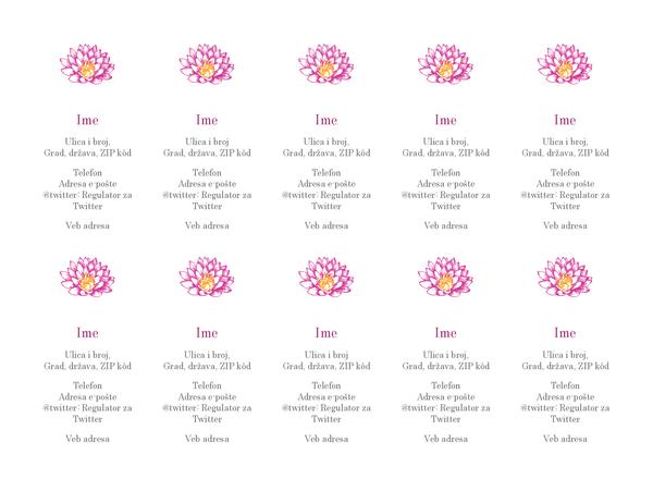 Lične vizitkarte sa slikom cveća (vertikalno)