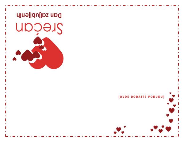 Čestitka za Dan zaljubljenih (četvorostruka)