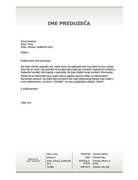 Poslovni memorandum podloge za pisanje (jednostavan dizajn)