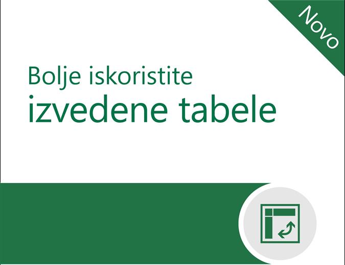 Bolje iskoristite izvedene tabele