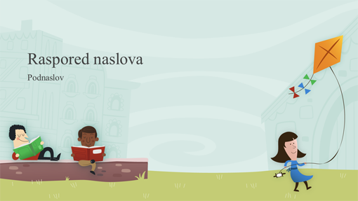 Prezentacija obrazovanja sa decom u školskom dvorištu, album (široki ekran)