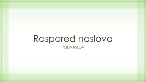 Prezentacija dizajna sa čisto zelenom ivicom (široki ekran)