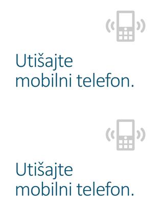 Poster sa podsetnikom za isključivanje mobilnog telefona