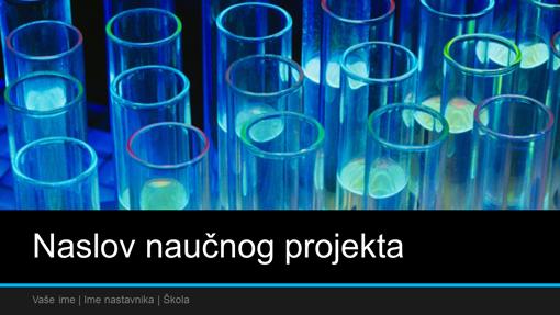 Prezentacija naučnog projekta (široki ekran)