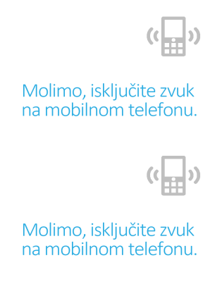 Poster podsetnika za isključivanje mobilnih telefona