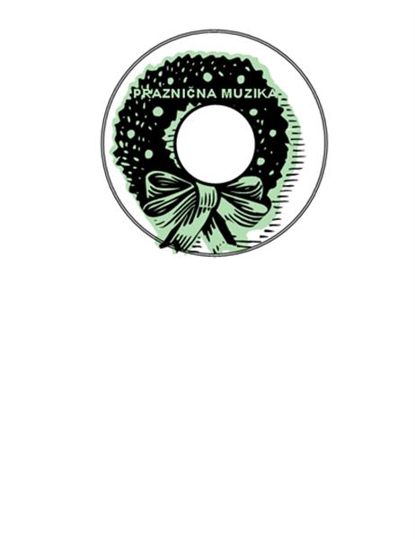 """Nalepnice za praznični CD (kartonski papir """"Avery"""" 5824)"""
