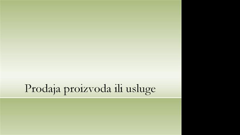 Prezentacija proizvoda ili usluge