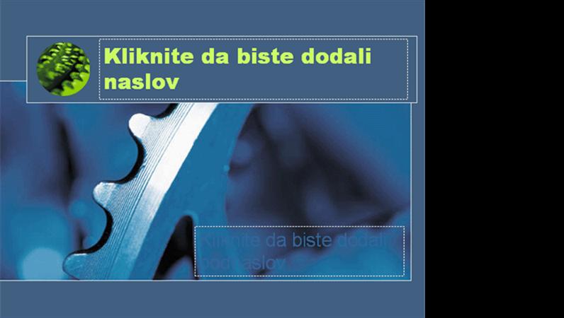 Dizajn predloška sa plavim zupčanikom