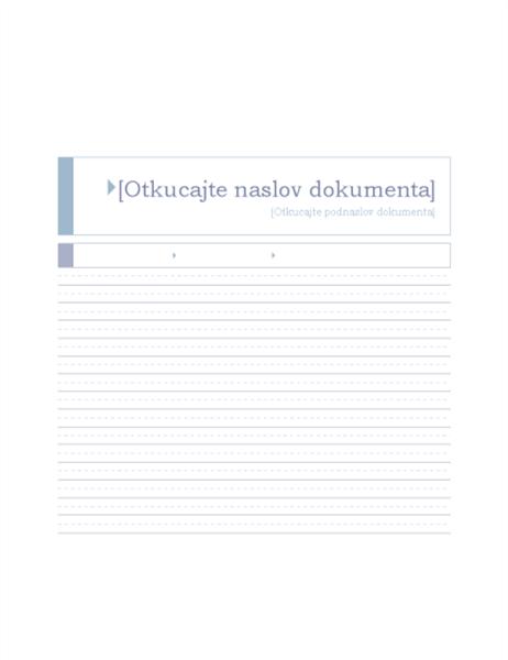 """Izveštaj (tema """"Poreklo"""")"""